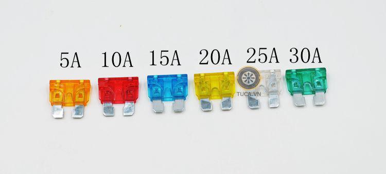 Bộ cầu chì ô tô 6 loại từ 5A đến 30A, 120 chiếc