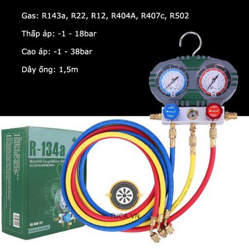 Đồng hồ nạp gas lạnh điều hòa R134a